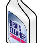 An illustrated bottle of drain cleaner