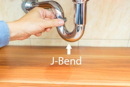 Illustration of a J-bend