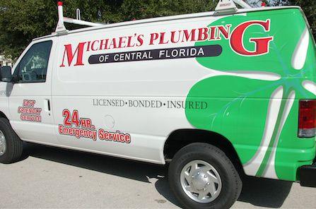 A Michael's Plumbing service van