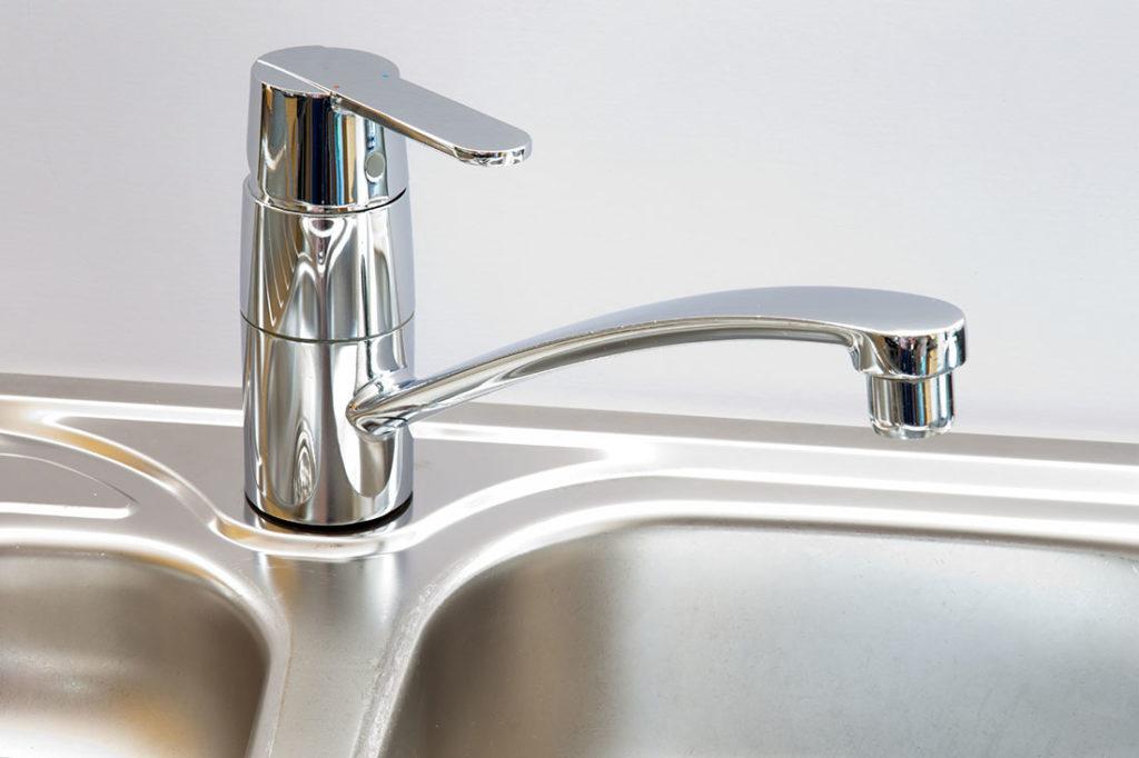 A kitchen faucet