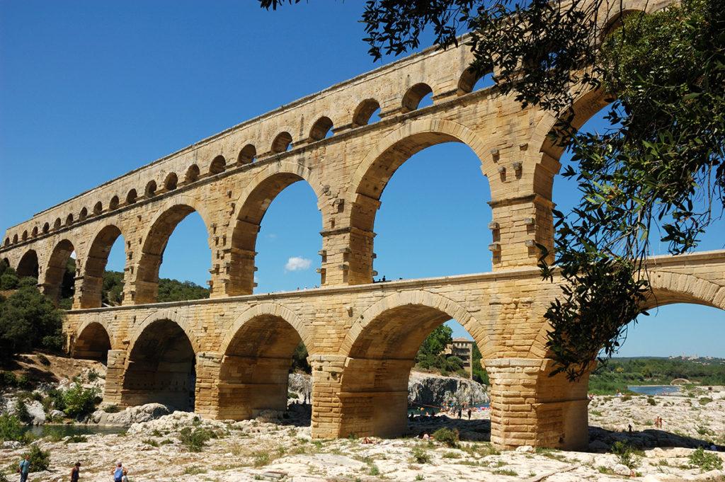 An ancient Roman aquaduct
