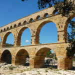 An ancient Roman aquaduct