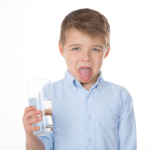 boy disgusted with water quality